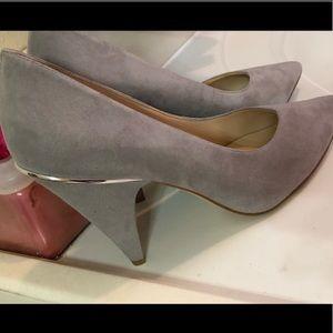 Nine West grey suede heels